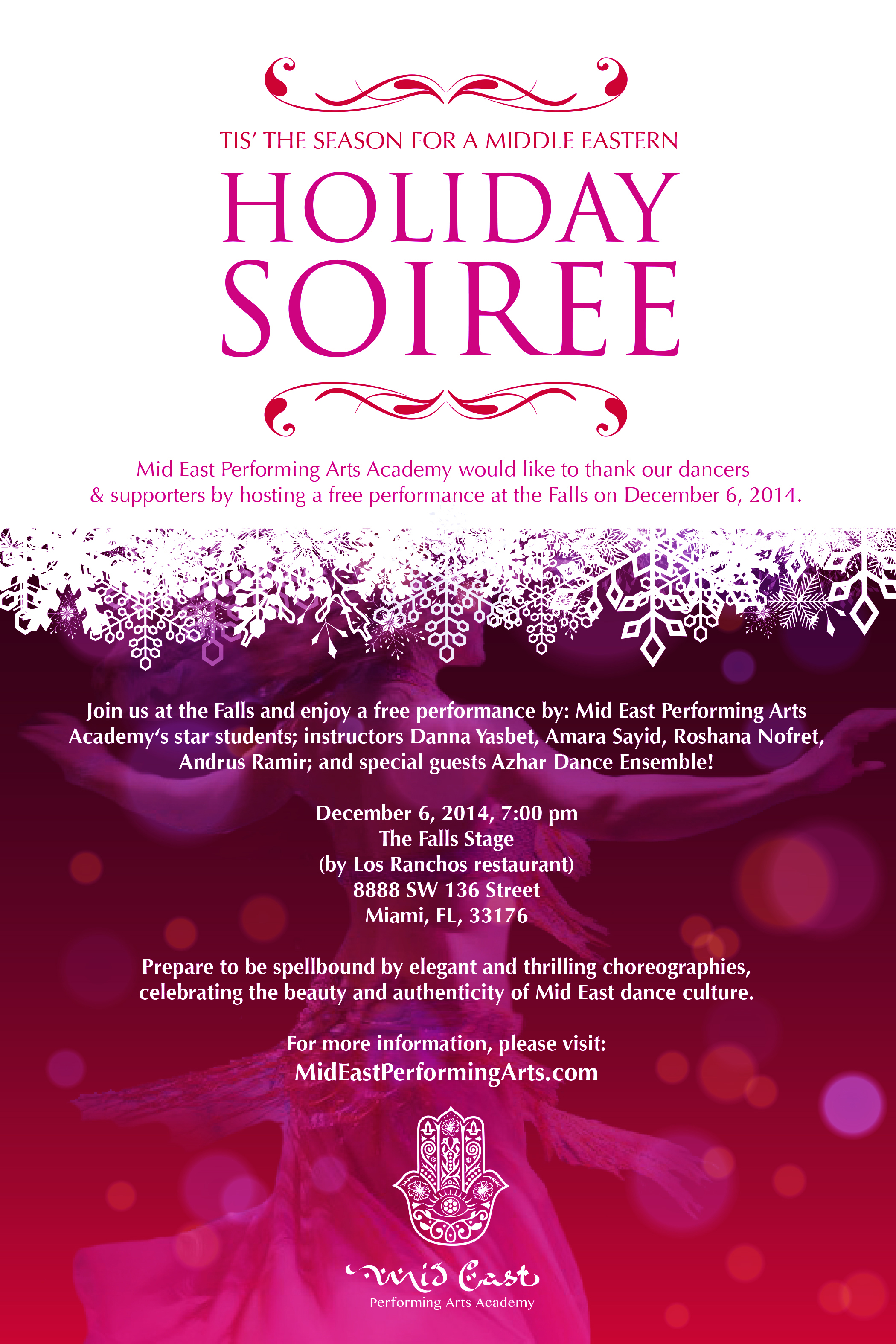 Mid East Perf. Arts Holiday Soiree 2014
