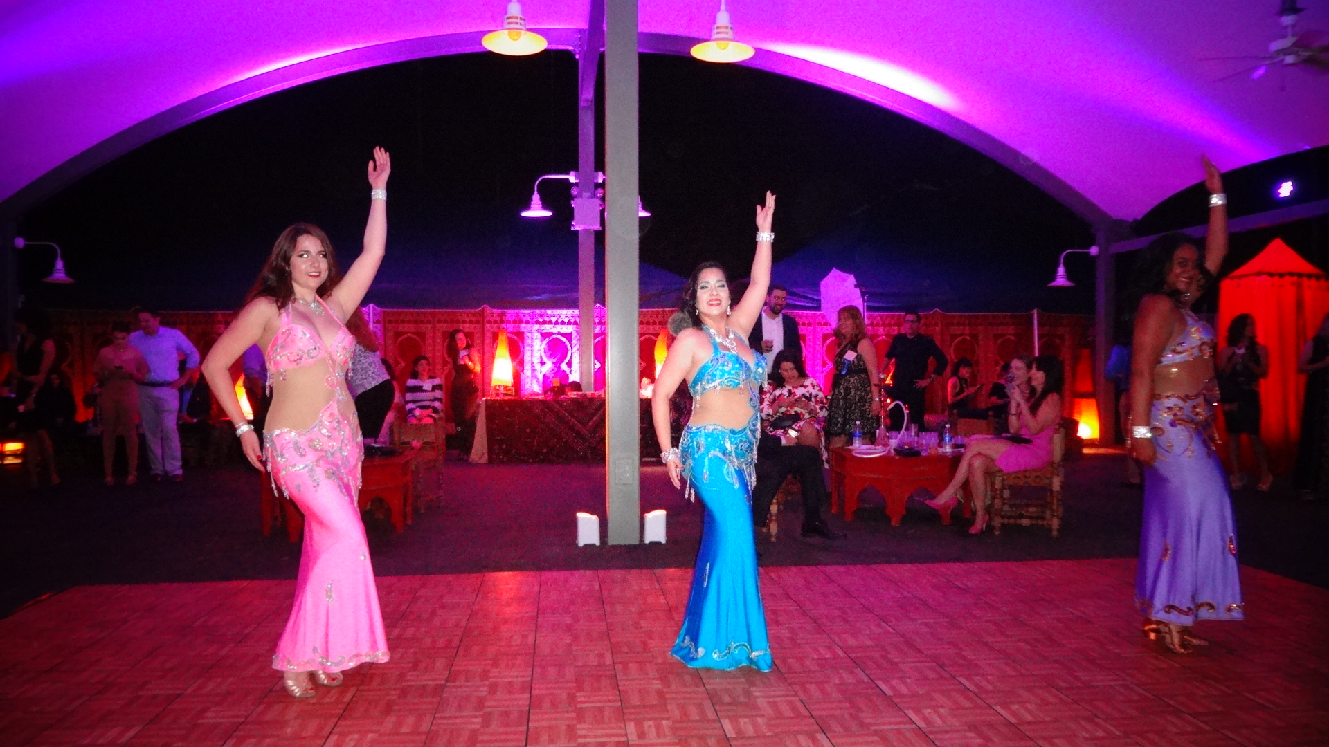 Performing inside the Arabic Hookah tent at the  reputable Feast With The Beasts event in Zoo Miami