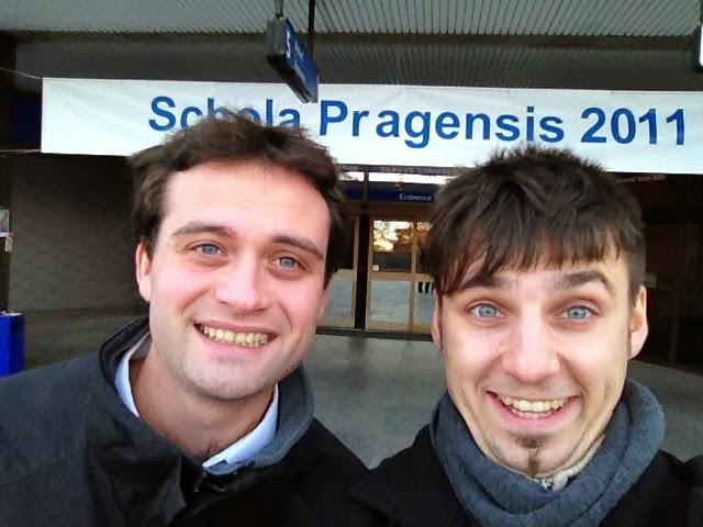 S Richardem před veletrhem Schola Pragensis 2011. Ve 4 ráno jsme nahodili web a v půl šesté už jsme vyjížděli do Prahy oslovovat první klienty.