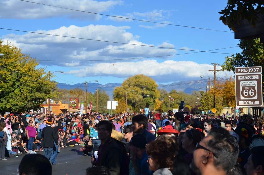 Dia de Los Muertos parade on Route 66