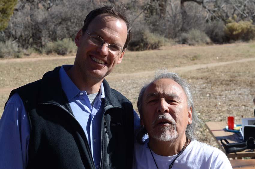 "Eric Noyes, director of American Indian Institute and   Angaangaq Angakkorsuaq, aka ""Uncle"""