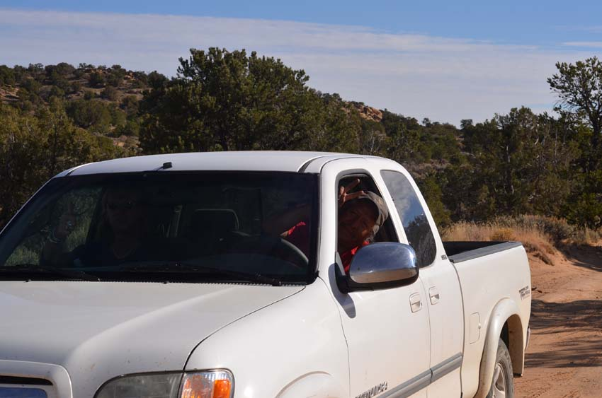 Heading for the dirt roads