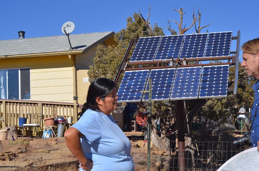 Mary-Katherine and her solarpanels