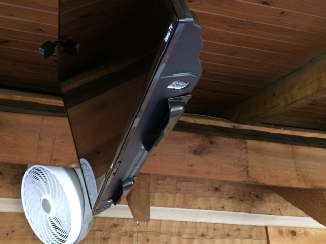 They worked great on our tv mounted on the patio  -Ivan