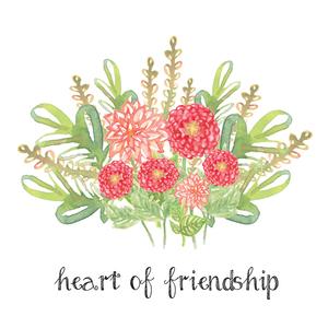 Heart of Friendship Verse Printable