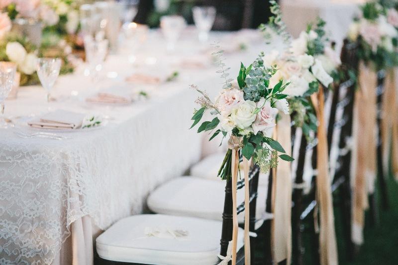 Chair florals- Courtenay Lambert Florals courtenaylambert.com wedding flowers Cincinnati best florist destination