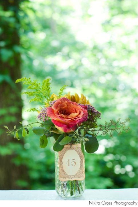 Mason jar centerpiece- Courtenay Lambert Florals www.courtenaylambert.com, Cincinnati florals, best cincinnati florist, best cincinnati wedding florist, wedding florist, mason jars, cincinnati centerpiece, wedding centerpiece