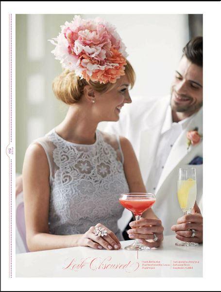 www.courtenaylambert.com Gorgeous floral headpiece, featured in Cincinnati Wedding Magazine by Courtenay Lambert Florals.