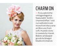 www.courtenaylambert.com Floral headpiece, featured in Cincinnati Wedding Magazine by Courtenay Lambert Florals.