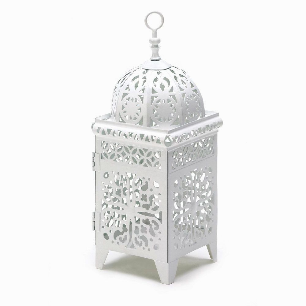 White Vintage Scroll Lantern Cincinnati Rentals by Courtenay Lambert Florals
