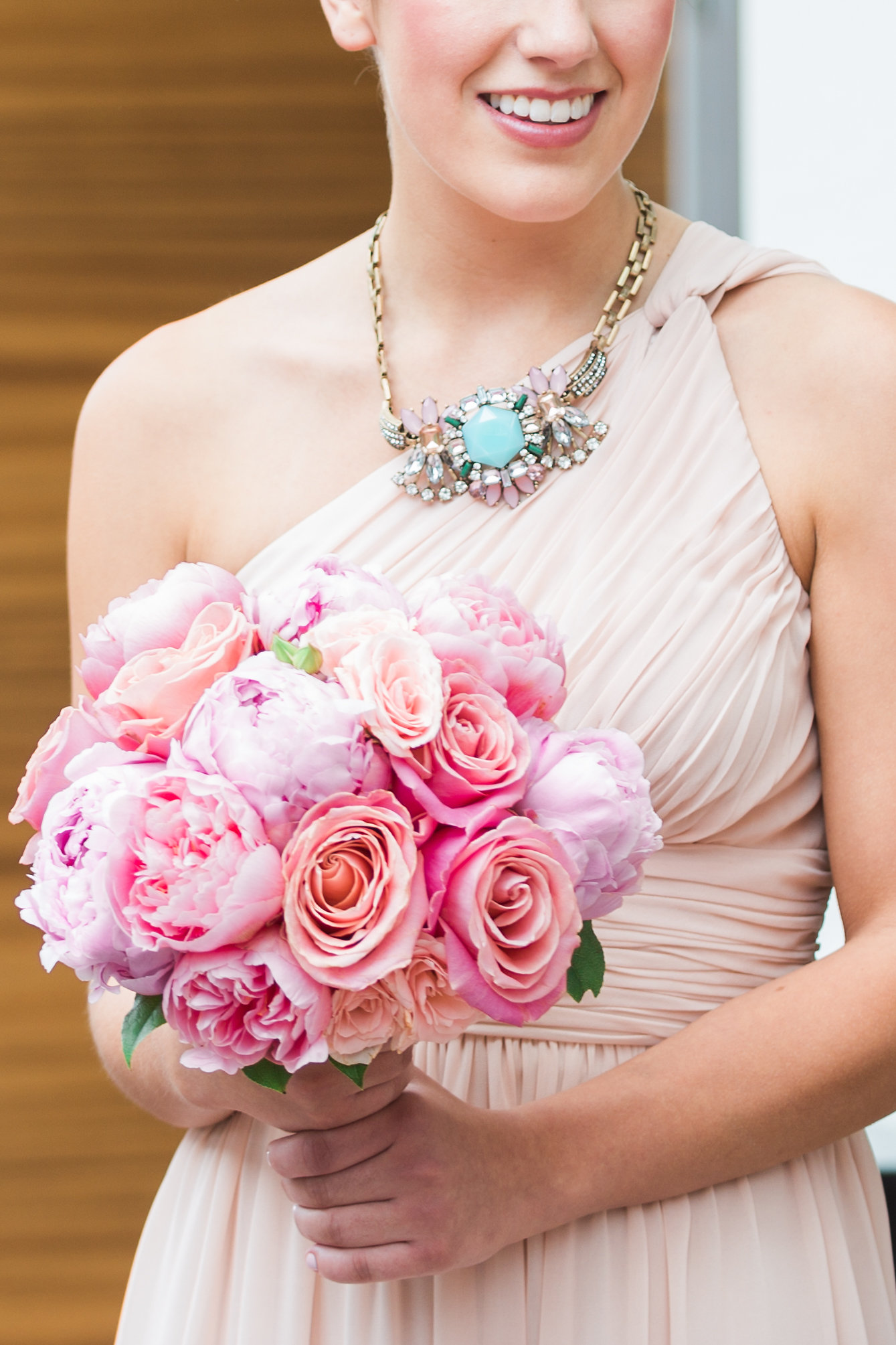Pink and Lavender Bridesmaid Bouquet