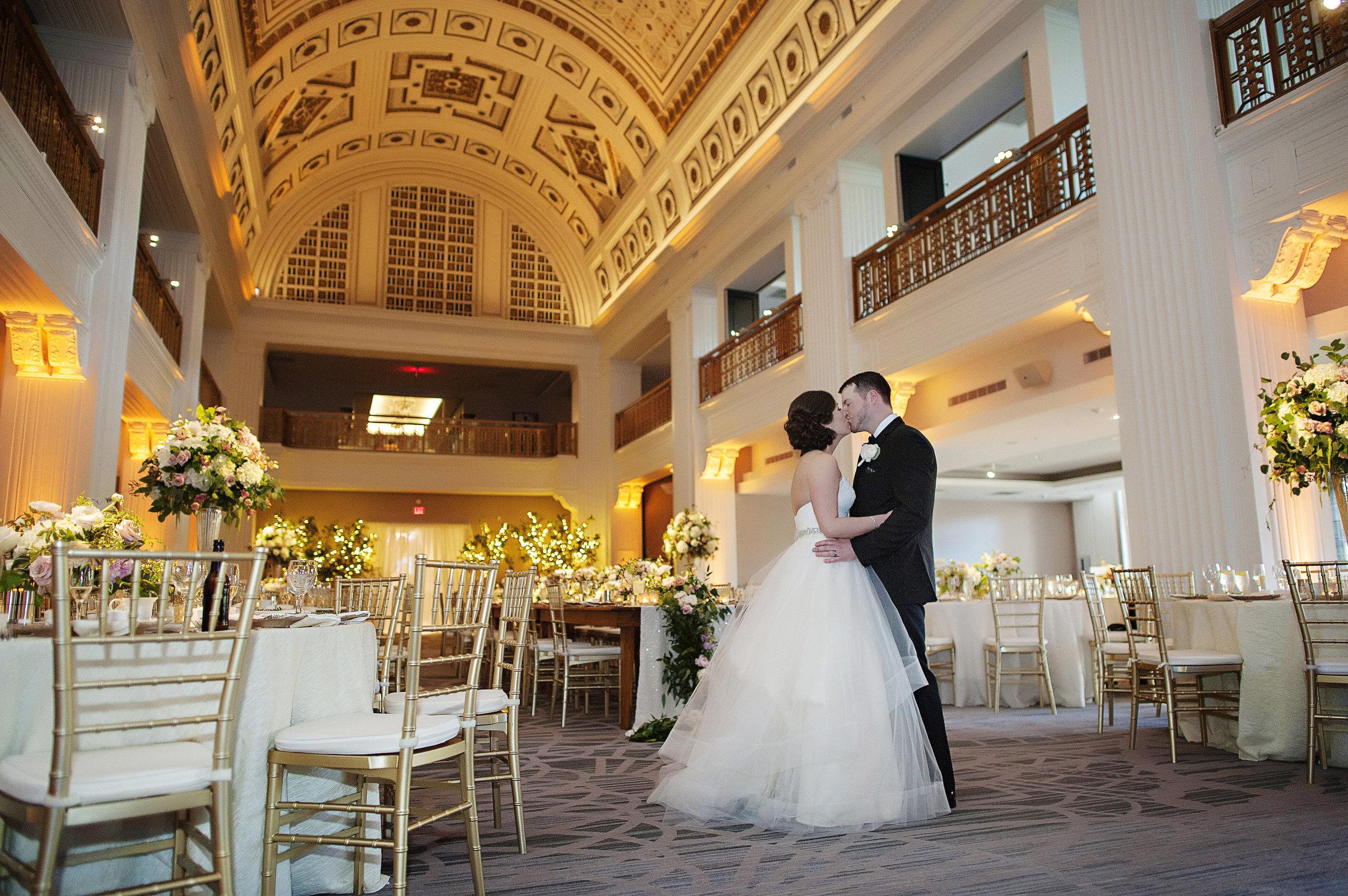 Cincinnati Wedding Flowers - The Renaissance Cincinnati, Courtenay Lambert Florals, Kortnee Kate Photography, i-Do Weddings & Events