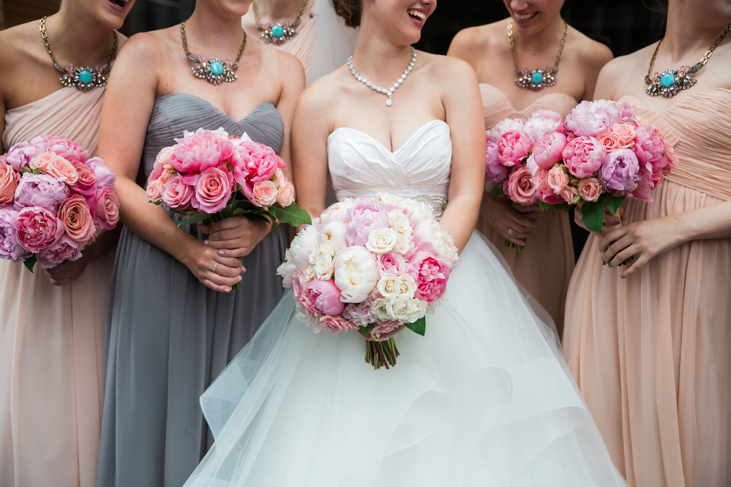 Bouquet shots from Bridal Party