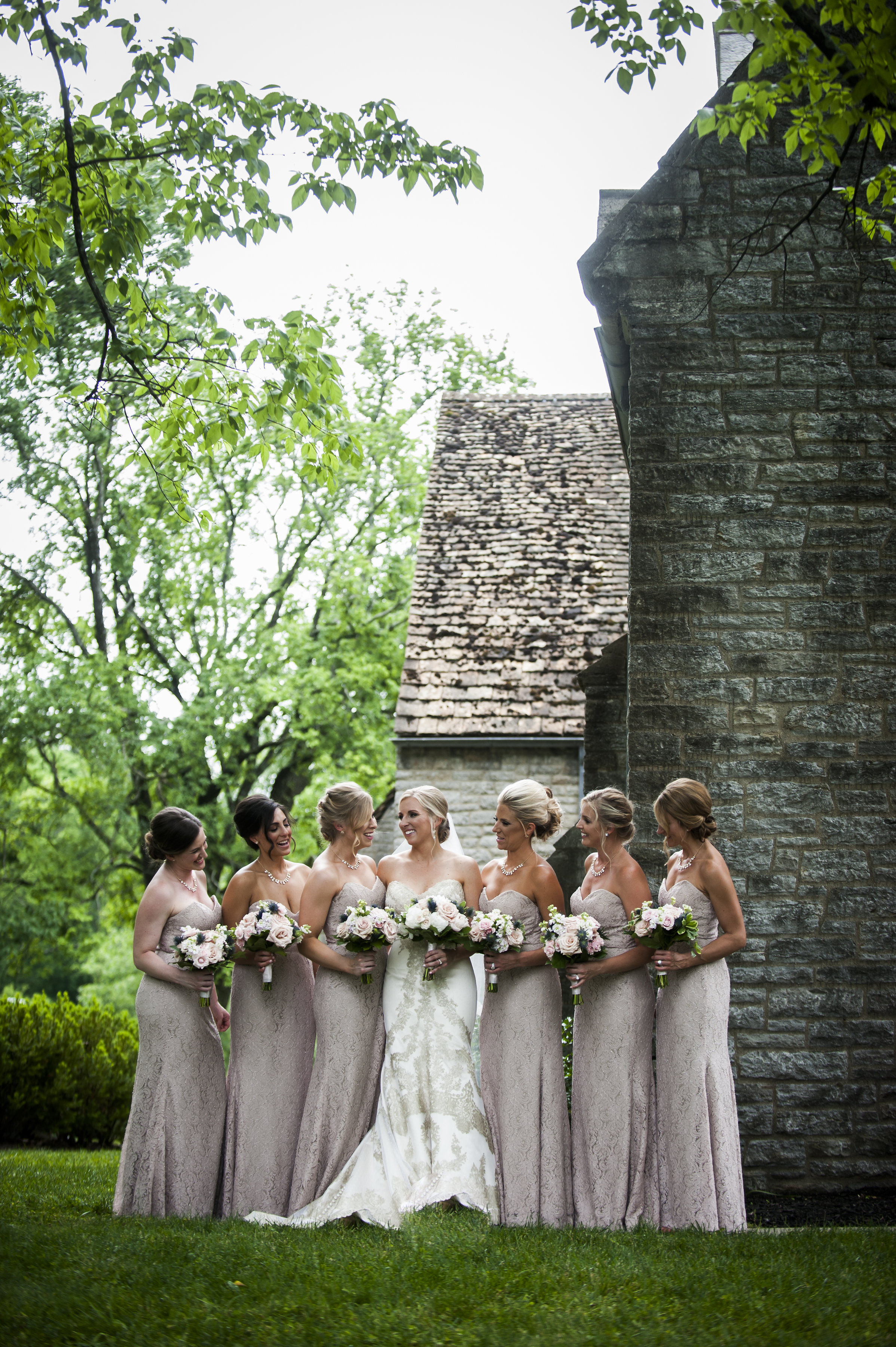 Greenery and Bridal party