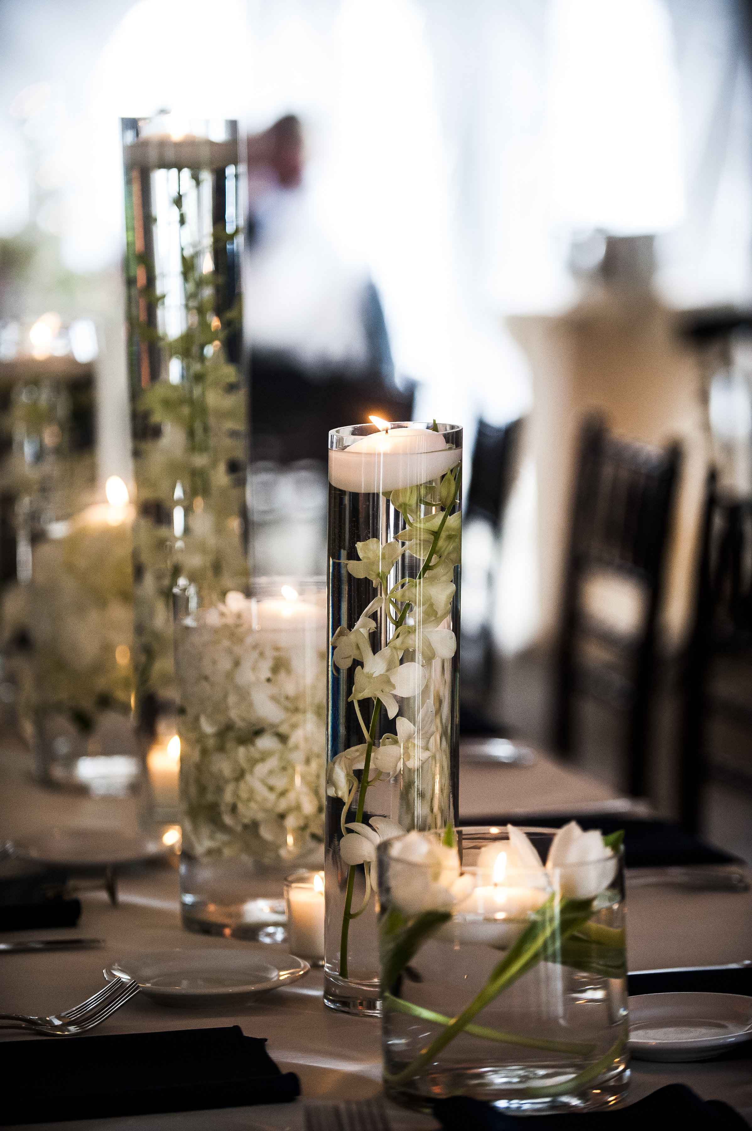 Flowers in Water centerpieces