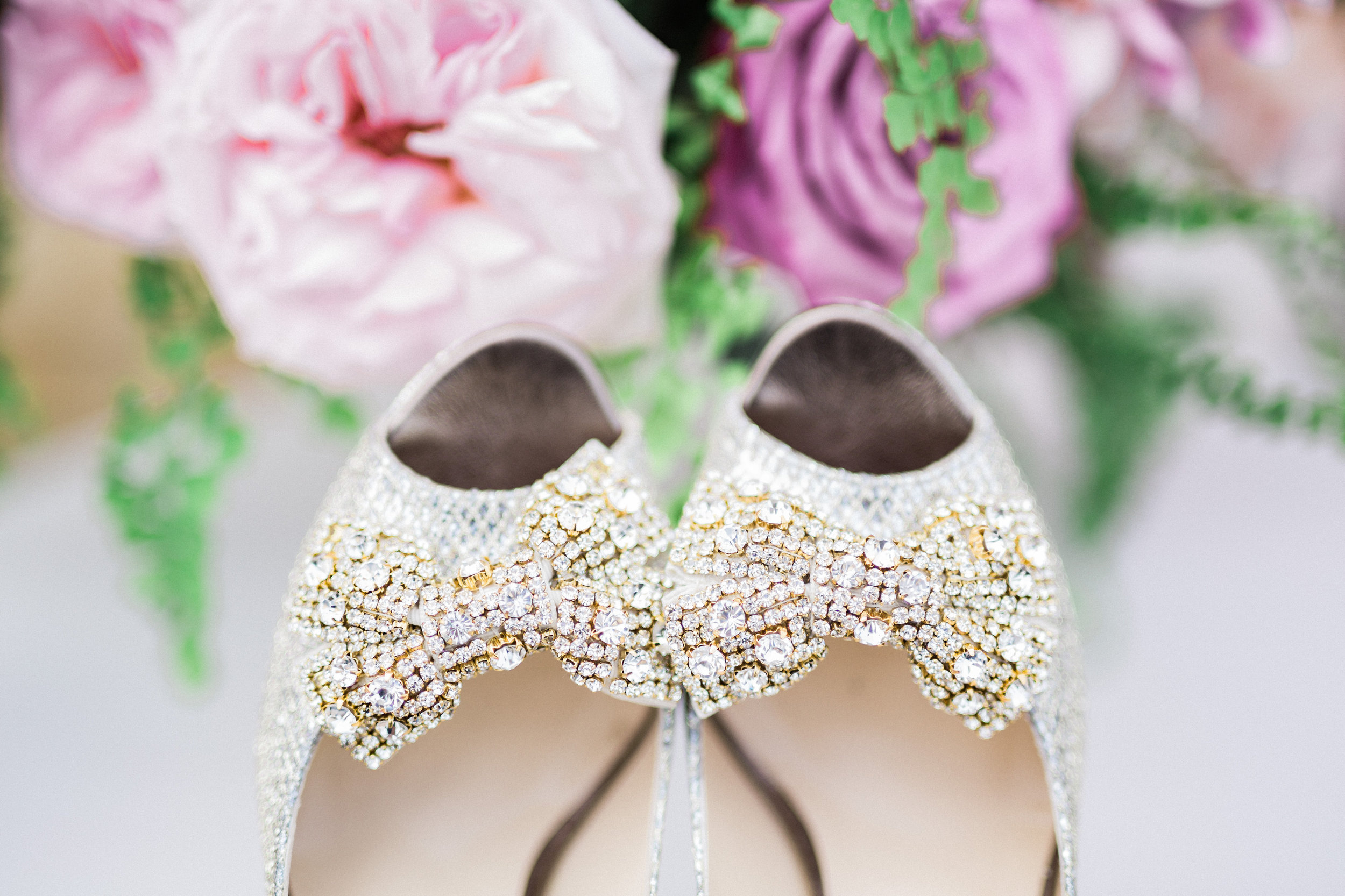 Bridal Shoe Shot at The Hilton Netherland Plaza Hotel Cincinnati, OH