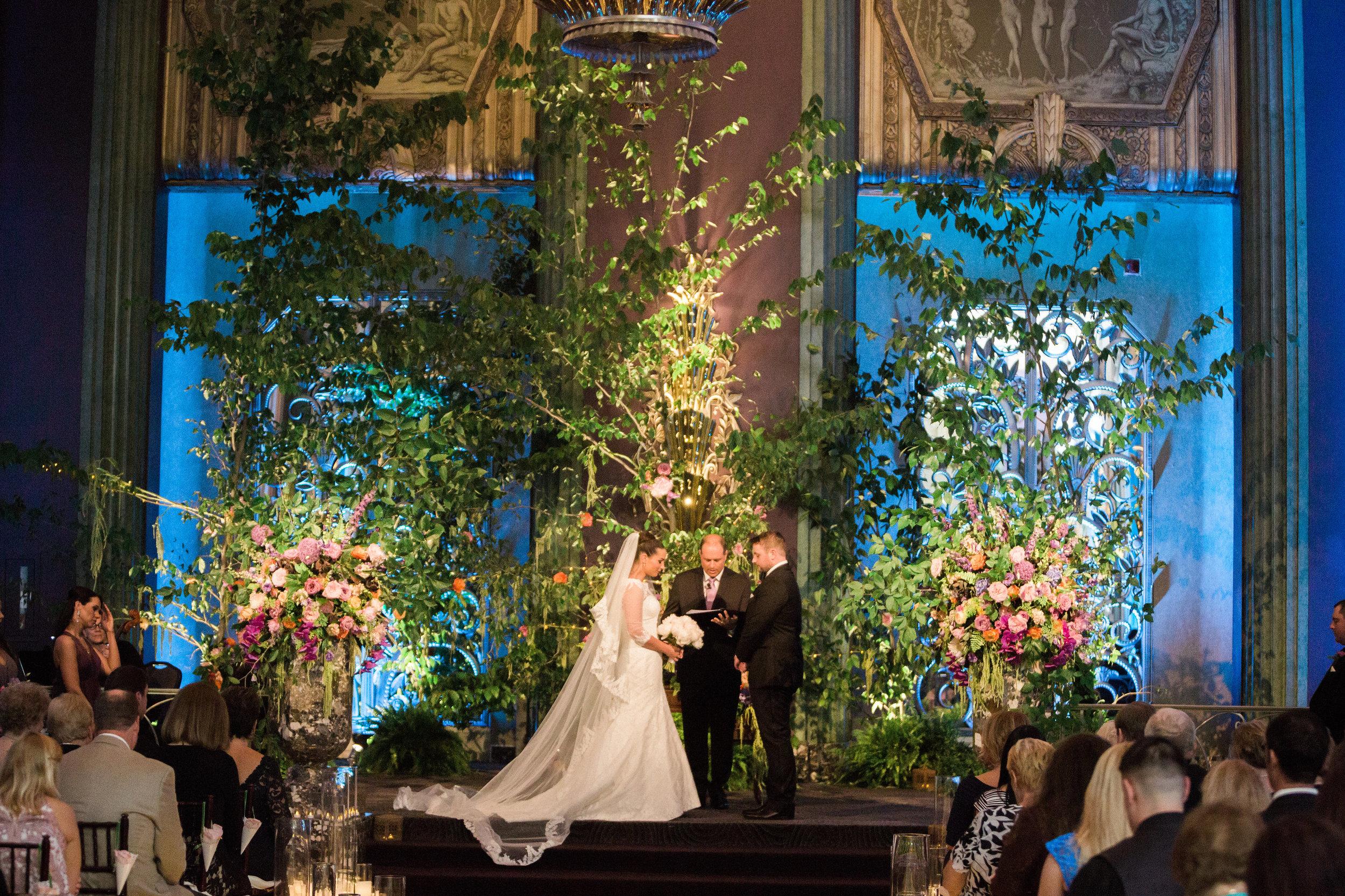 Ceremoney Shot at The Hilton Netherland Plaza Hotel Continental Room Cincinnati, OH