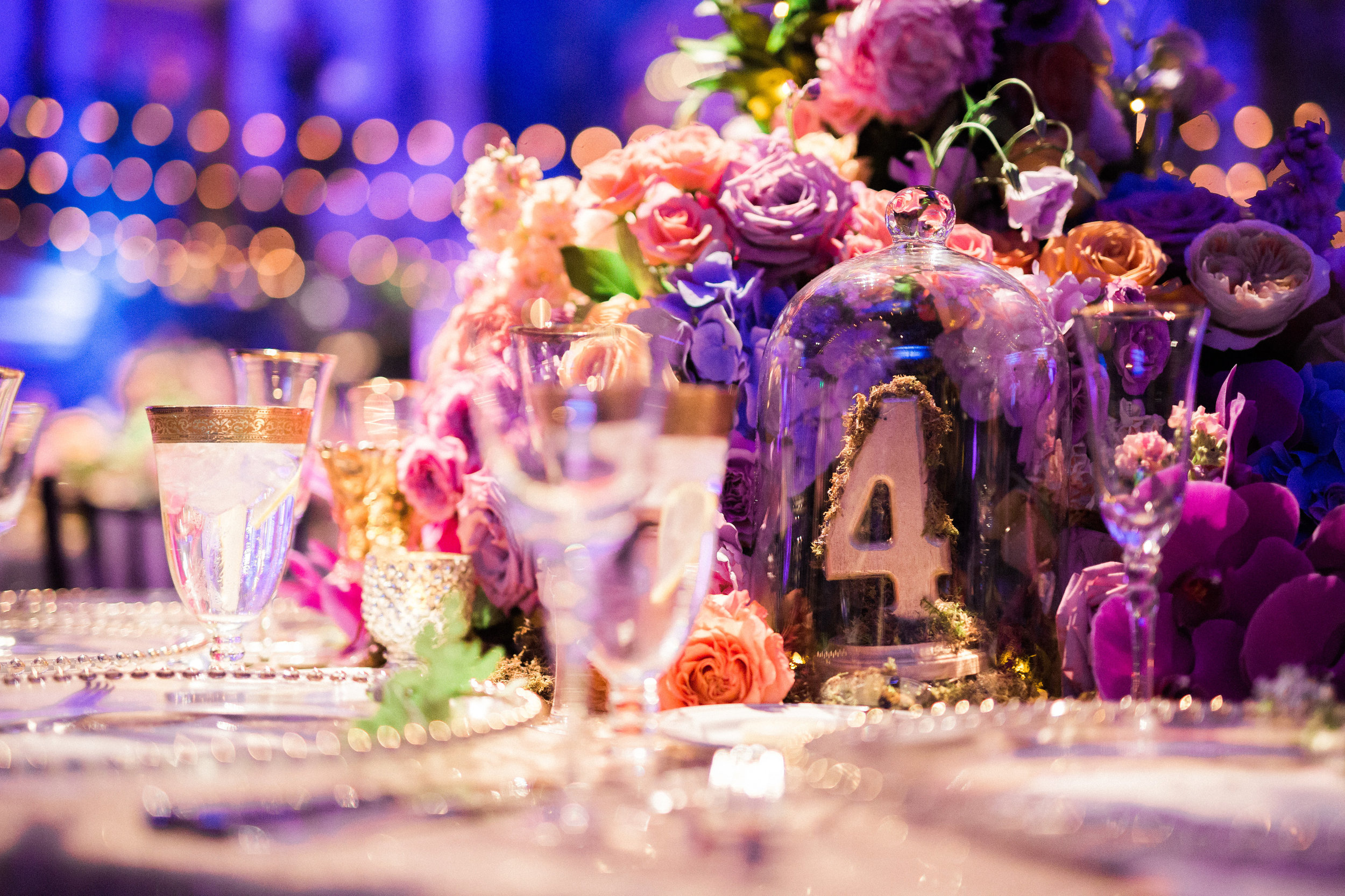 Guest Table Details at Reception at The Hilton Netherland Plaza Hotel Cincinnati, OH