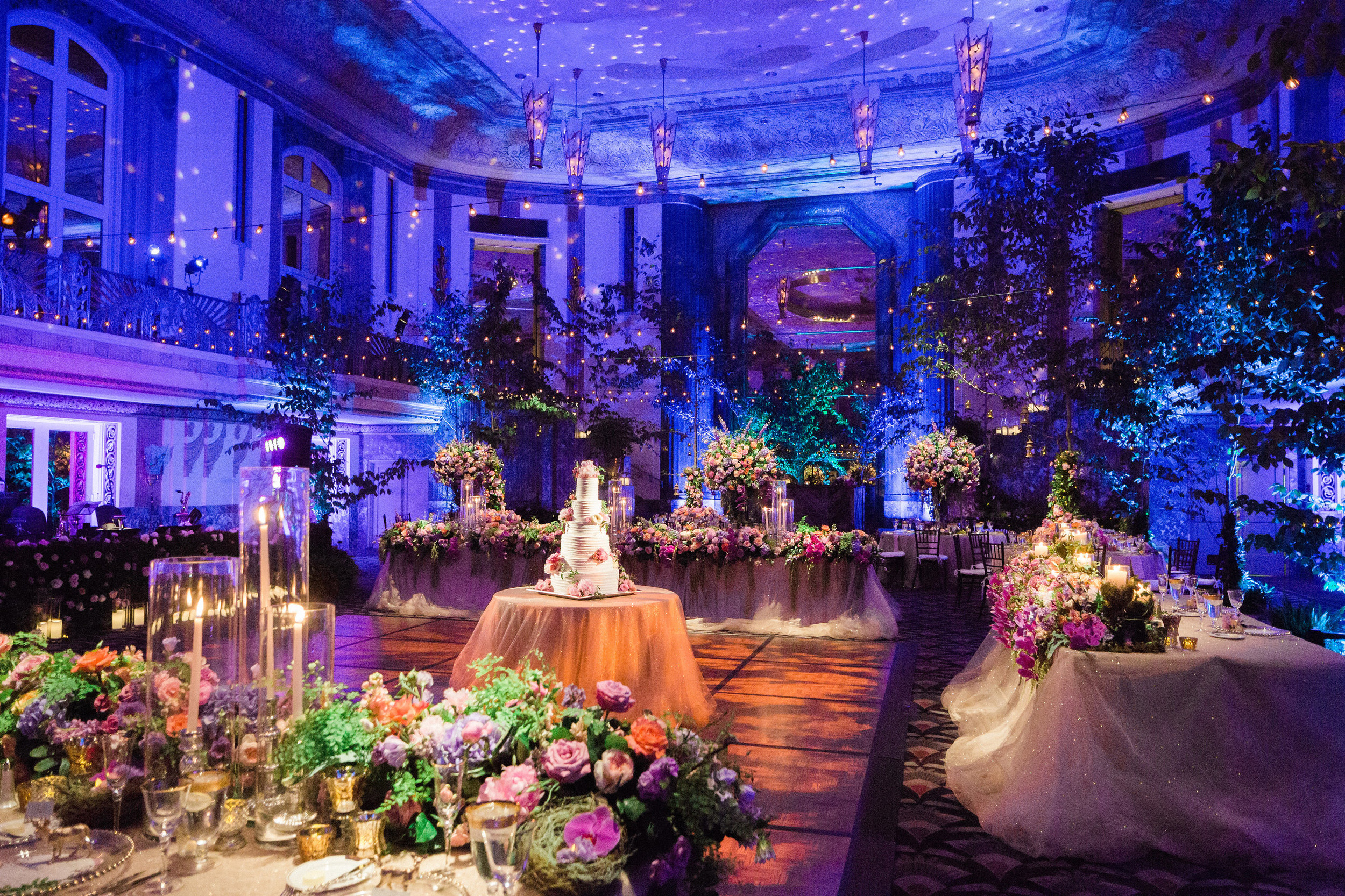 Room Shot at Reception at The Hilton Netherland Plaza Hotel Hall of Mirros Cincinnati, OH