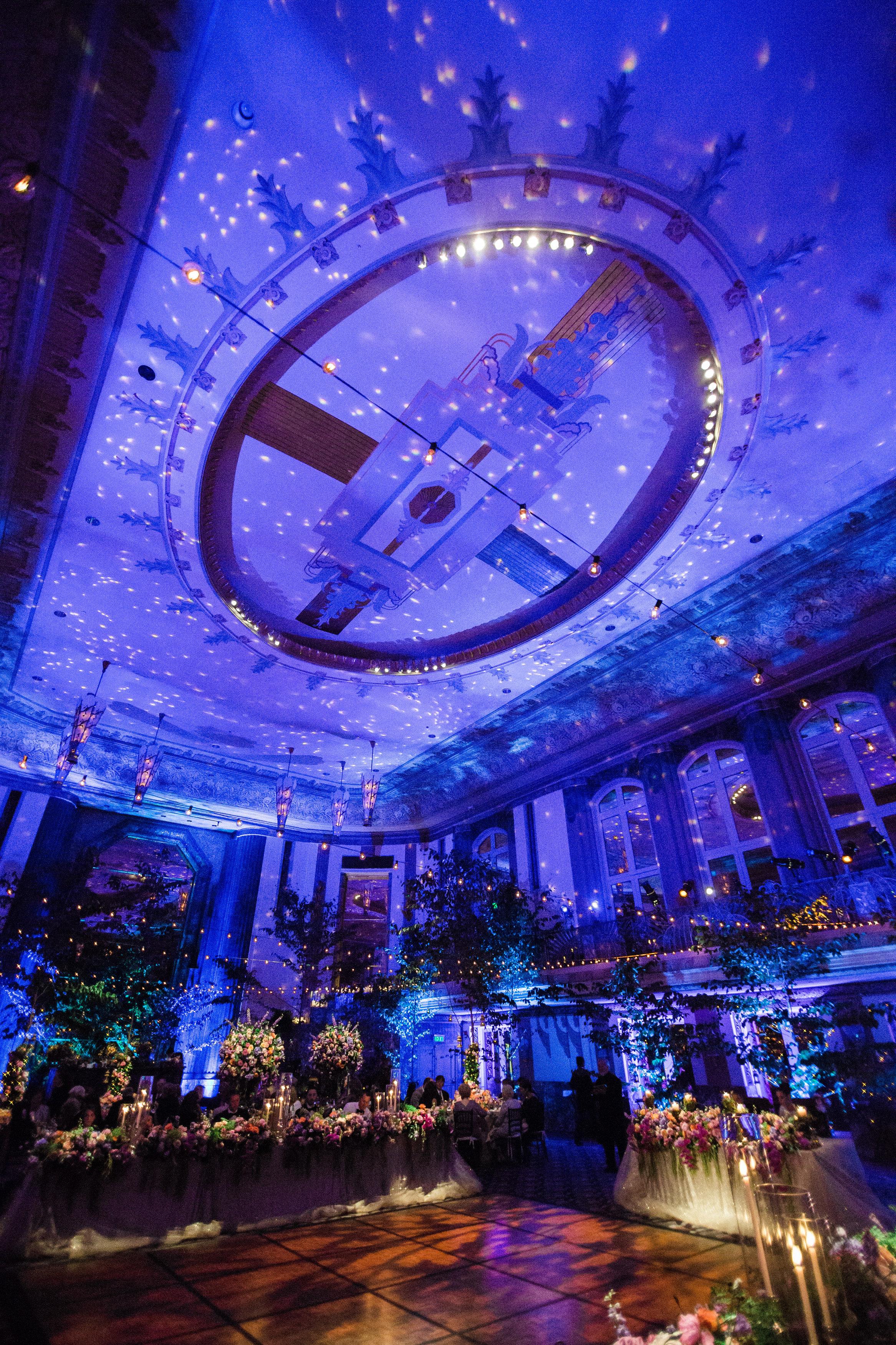 Room Shot at Reception at The Hilton Netherland Plaza Hotel Hall of Mirrors Cincinnati, OH