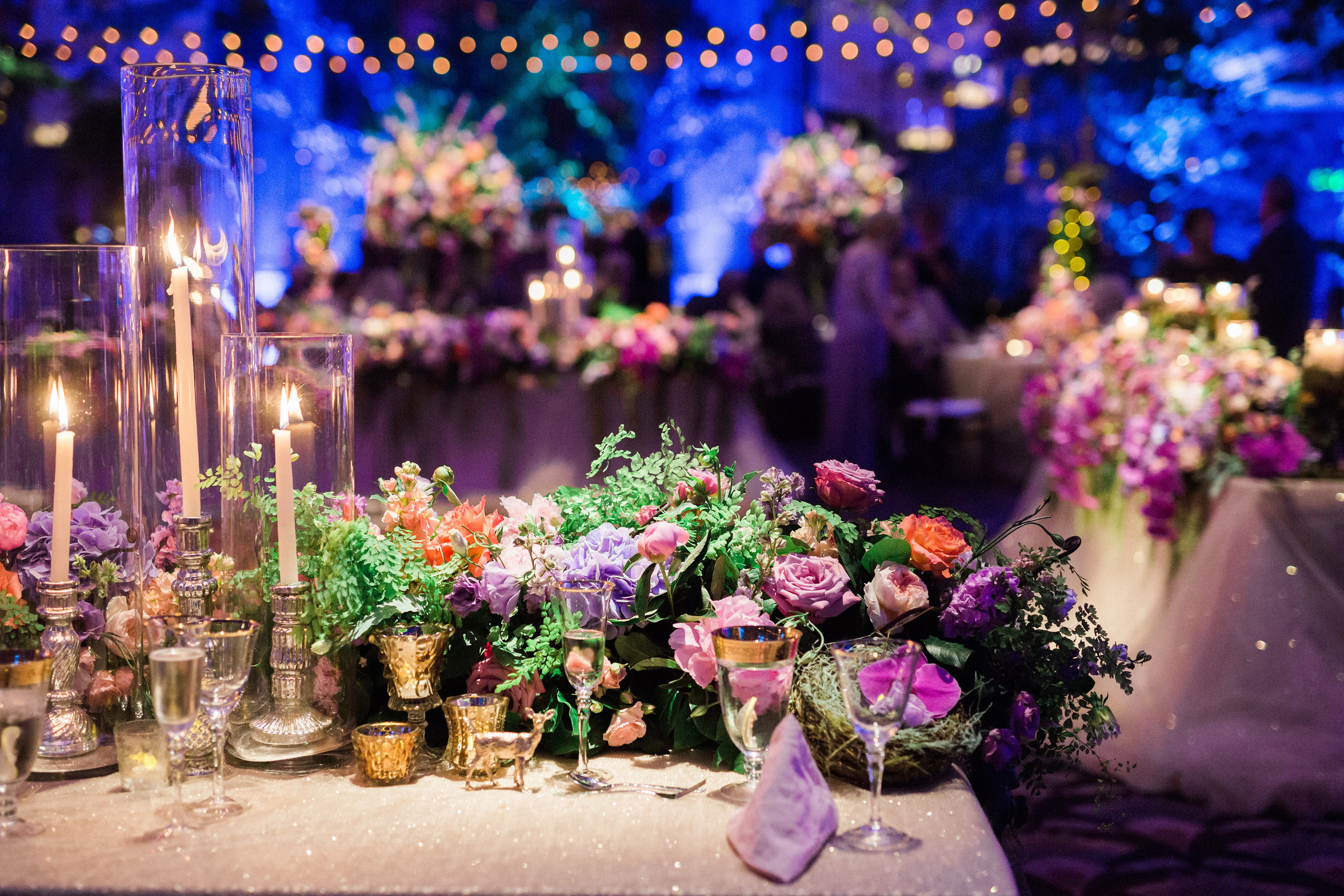 Head Table details at Reception at The Hilton Netherland Plaza Hotel Hall of Mirrors Cincinnati, OH