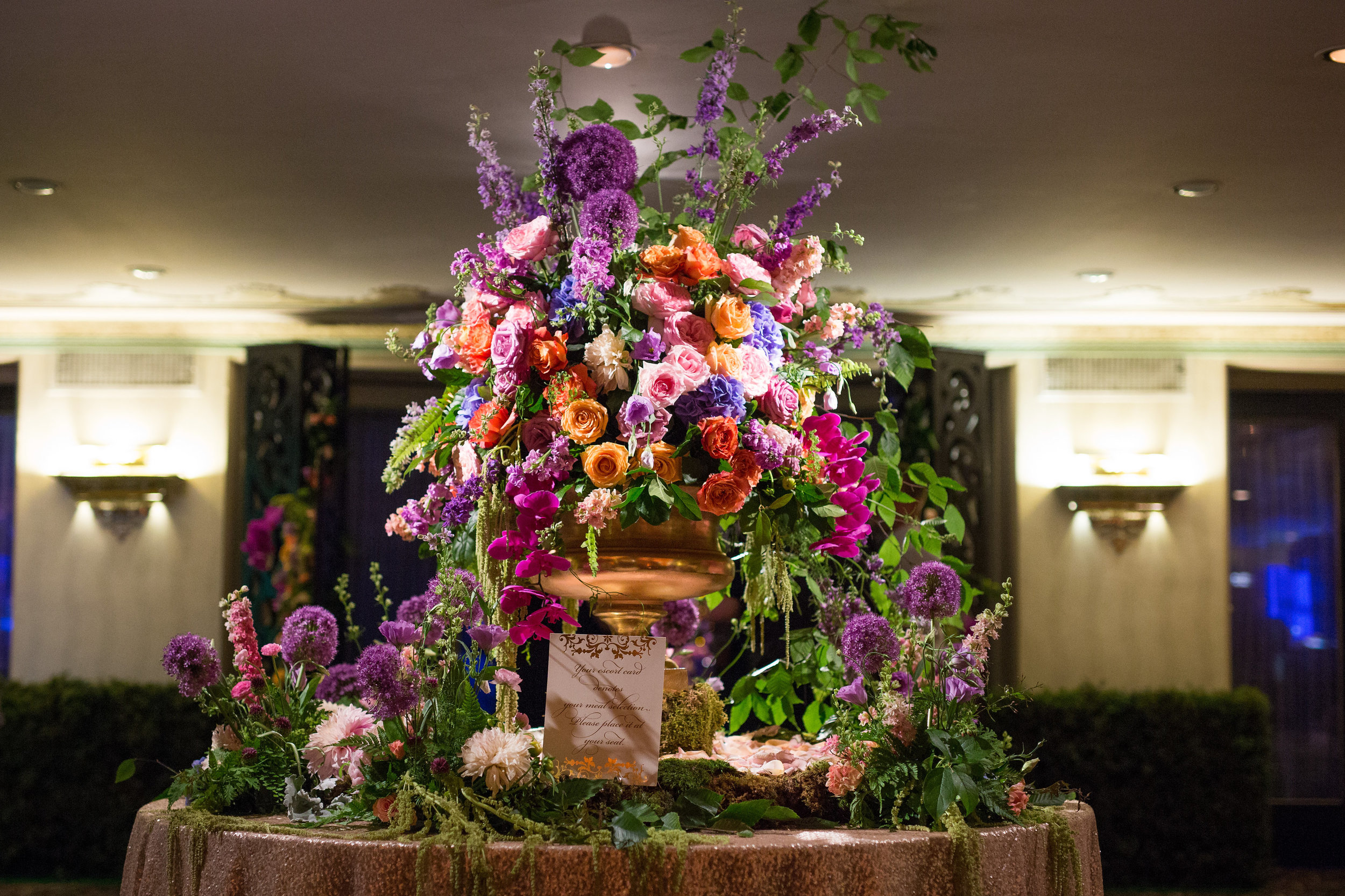 Escort Card Table at Reception at The Hilton Netherland Plaza Hotel Hall of Mirrors Cincinnati, OH