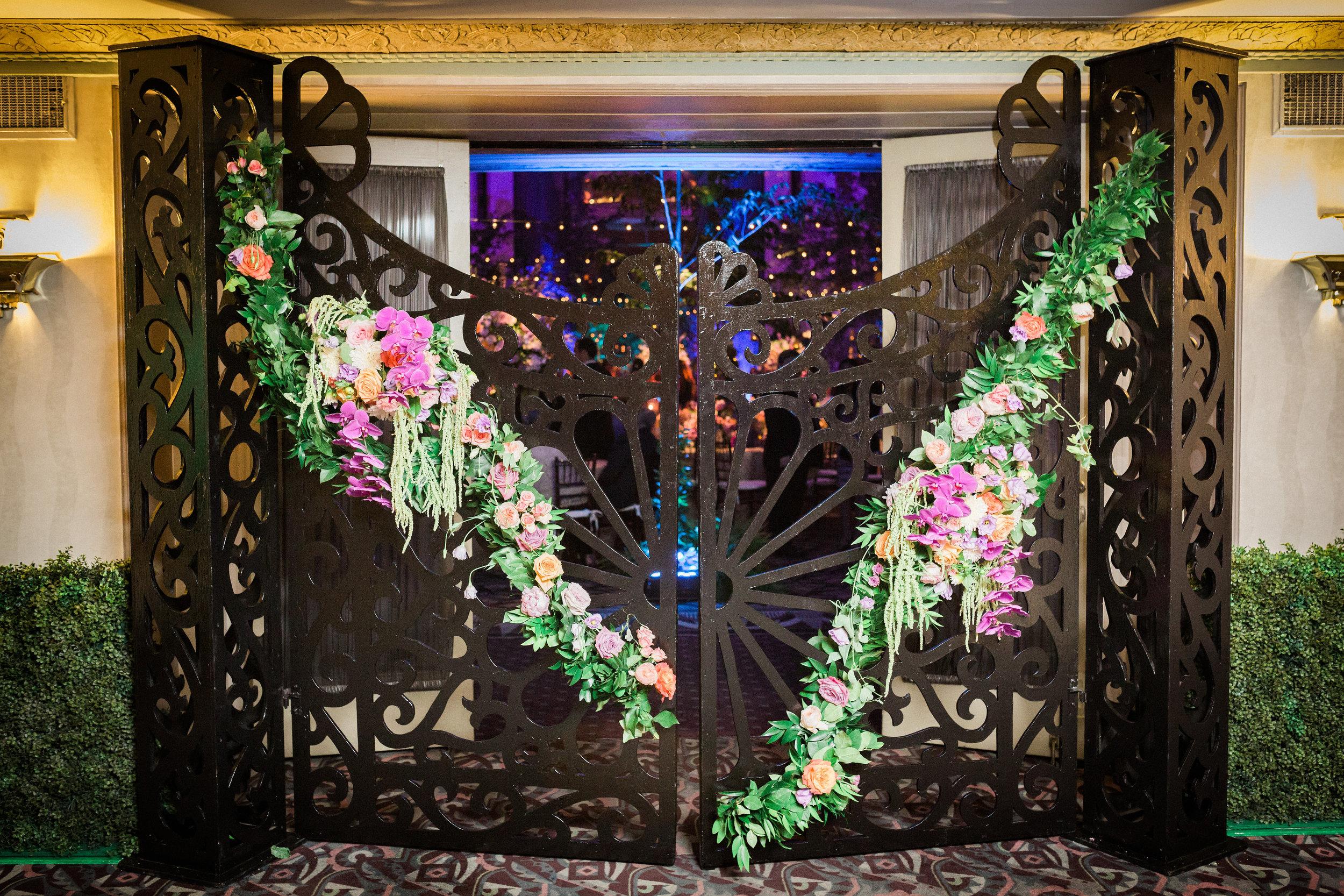 Grand Enterance to Reception at The Hilton Netherland Plaza Hall of Mirrors Cincinnati, OH