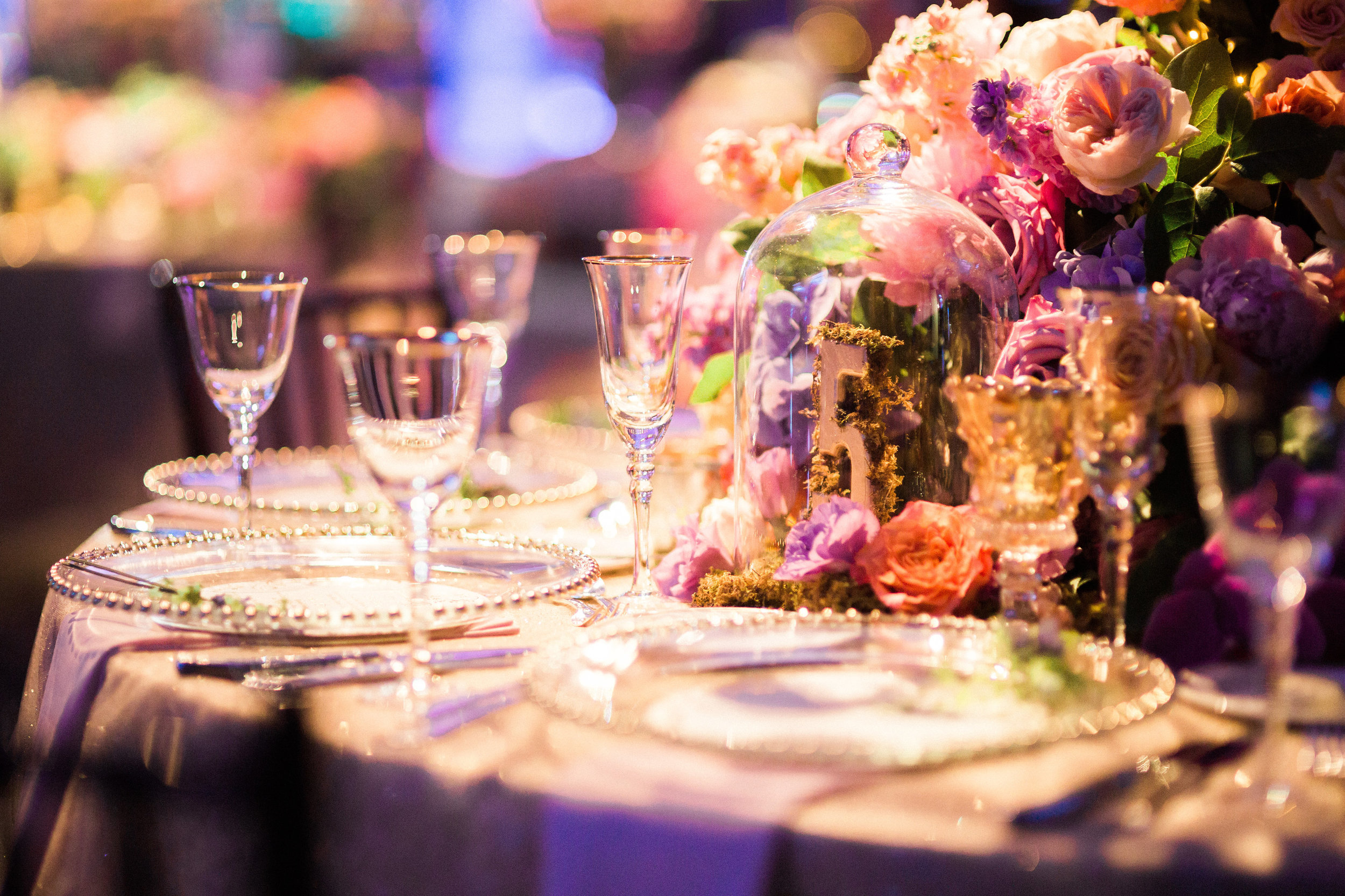 Guest Table Details at Reception at The Hilton Netherland Plaza Hotel Hall of Mirrors Cincinnati, OH