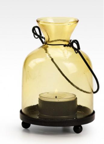 Yellow Glass Bottle Lantern.PNG