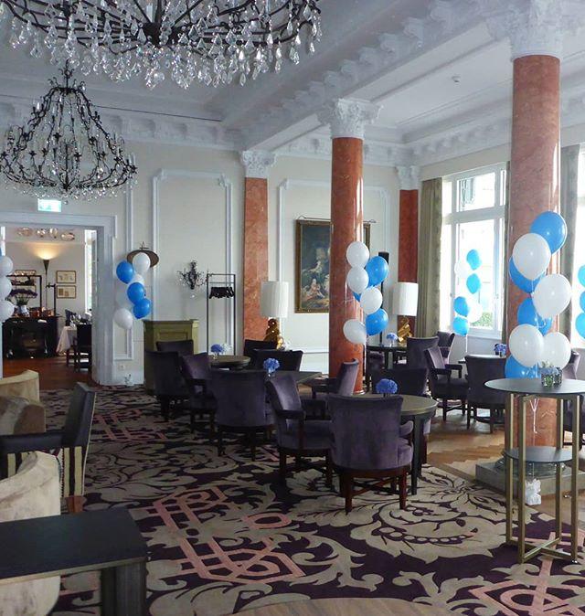 #bürgenstock #bürgenstockresort #palacehotel #blau #weiss #firmenanlass #deko #ballon #ballonbox #ballonboxag