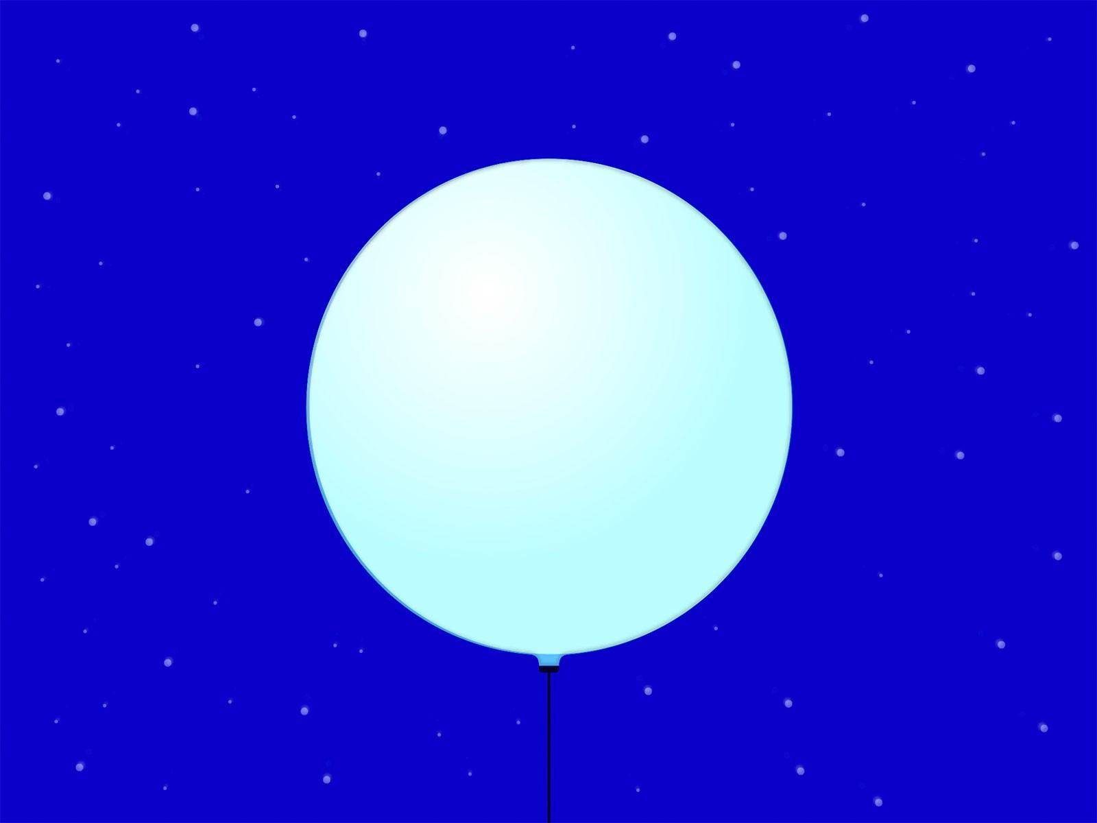Anwendung: aussen und innen Farbgebung: Sämtliche Farben im RGB-Spektrum Füllung: Helium Betrieb elektrisch: unabhängig via Akku oder über eine 230V-Steckdose Ballon-Durchmesser: 1.5 Meter