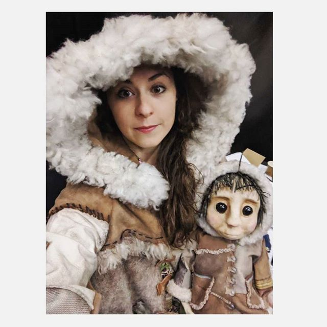 Me and ma little pal. . #amka #underthefrozenmoon #matchingcoats . @halfastring . Amazing costumes by Katie Underhay