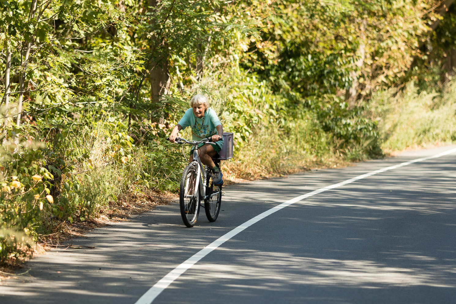 Poetry in motion:Ray on a recent ride near Lanesville. (Photograph by Jason Grow)
