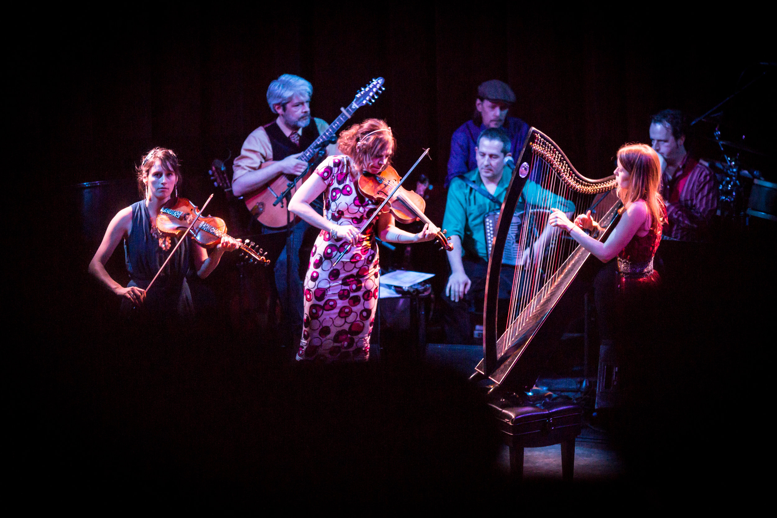 """Brian O'Donovan's """"A Christmas Celtic Sojourn,"""" above, and Wynton Marsalis and the Jazz @ Lincoln Center Orchestra, below, have recently performed at the Shalin Liu.(Courtesy Marv Goldschmitt)"""