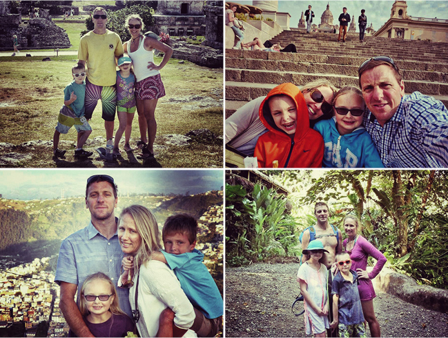 Around the world with the DeLuca family: Scott, Laura, Lila, and her brother Anderson. (Photographs courtesy of the family)