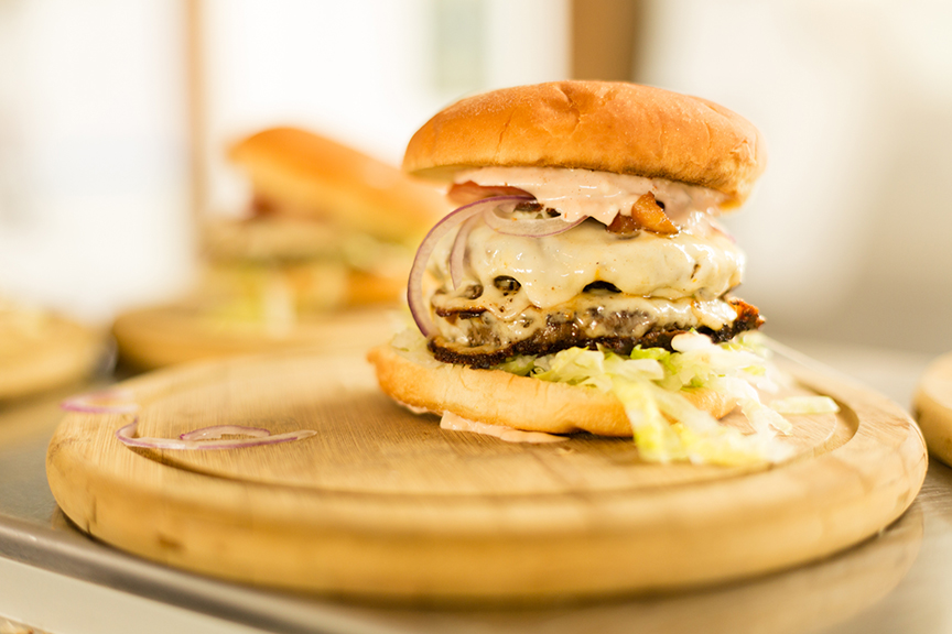 The Superfine double burger