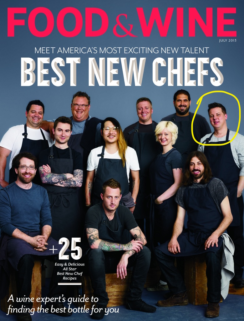 Guadet (top right) was named one of  Food & Wine 's Best New Chefs of 2013.