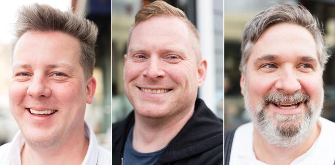 The Superfine founders (L to R): Matthew Gaudet, Paul Emmett, and Chris Robins (Photographs by Jason Grow)