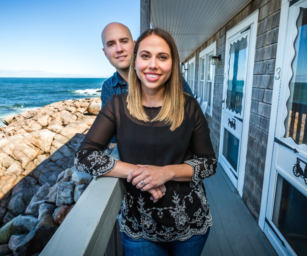 Eric and Krystle Leveille, owners of Bearskin Neck Motor Lodge (Photograph by Jason Grow)