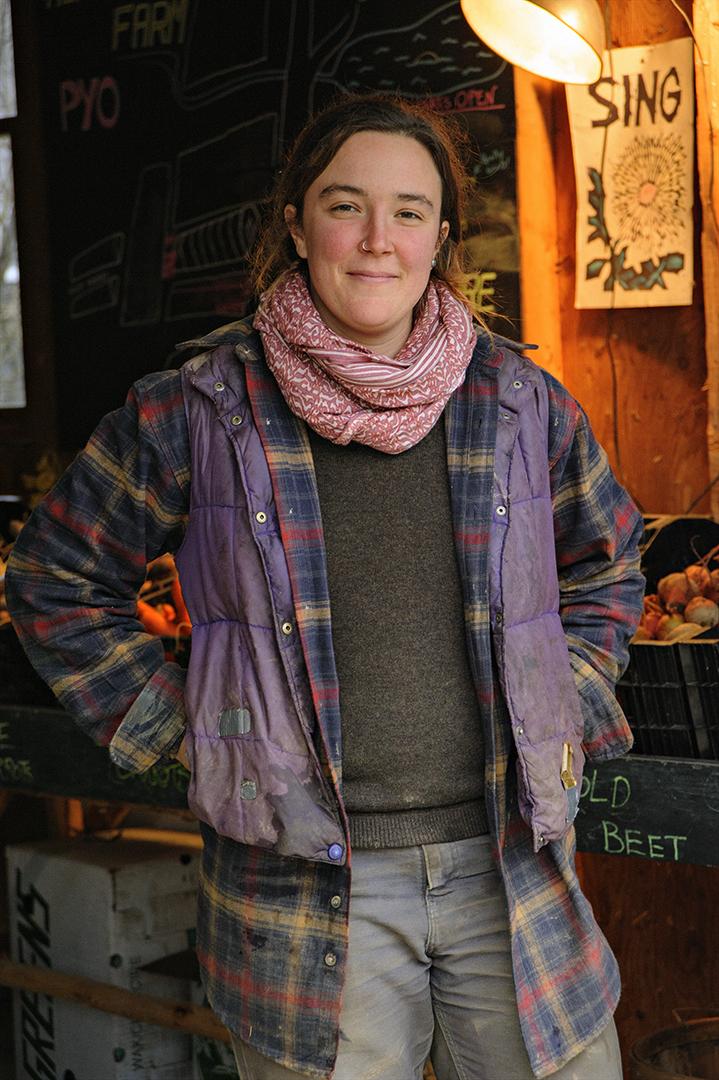 The author, Sophie Courser, of Alprilla Farm. (Photograph by Paul Cary Goldberg)