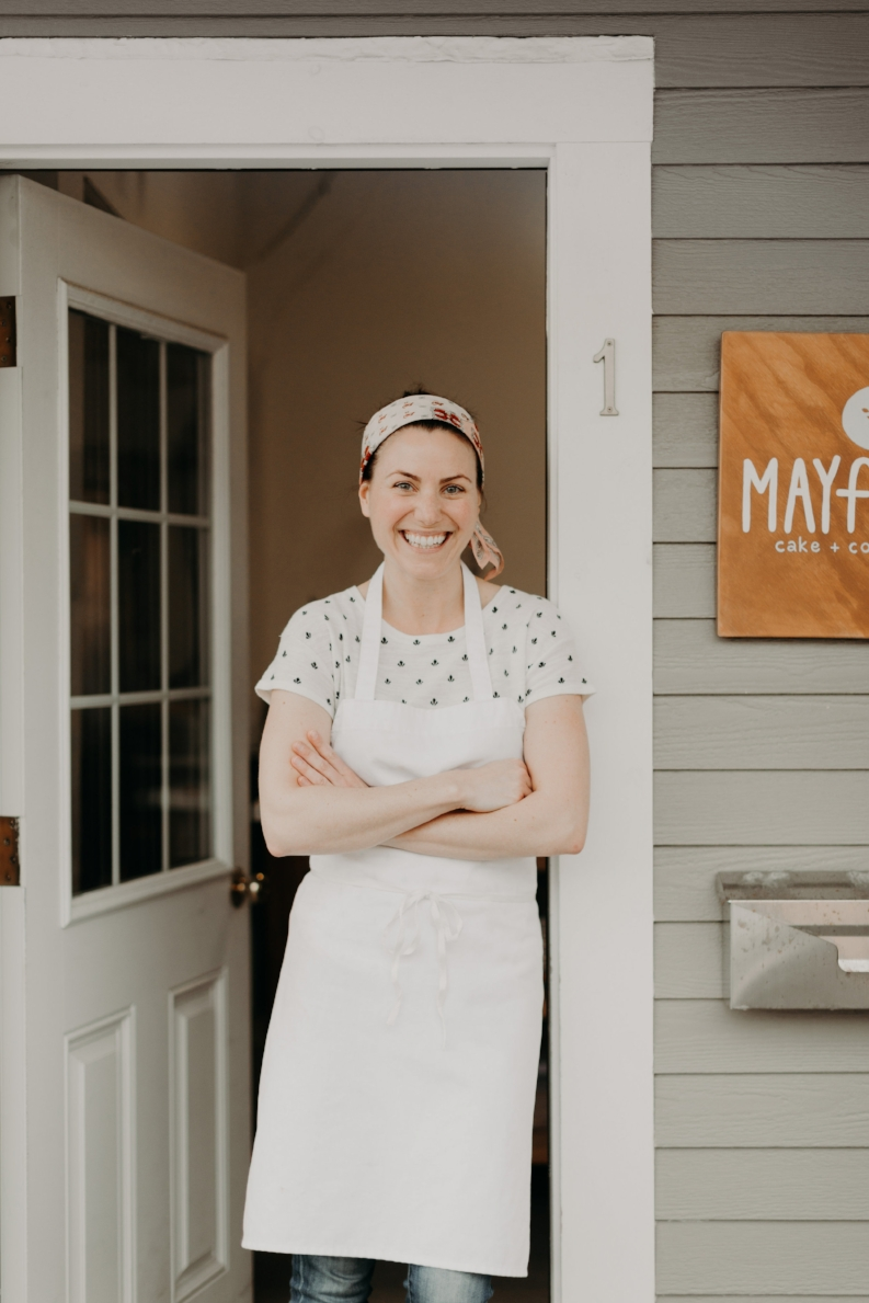 Mayflour's kitchen is located in an understated storefront in Rockport's Whistlestop Mall. (Photograph by Mark Spooner)
