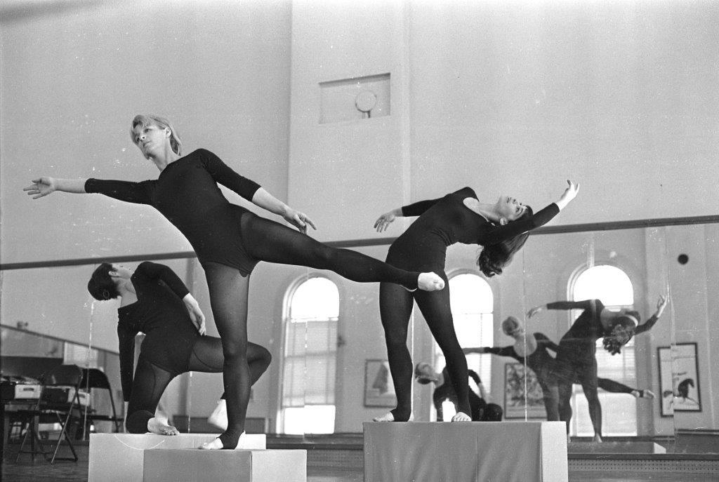 Hahn (right) in rehearsal in Gloucester, ca. 1970. (Courtesy of Lisa Hahn)