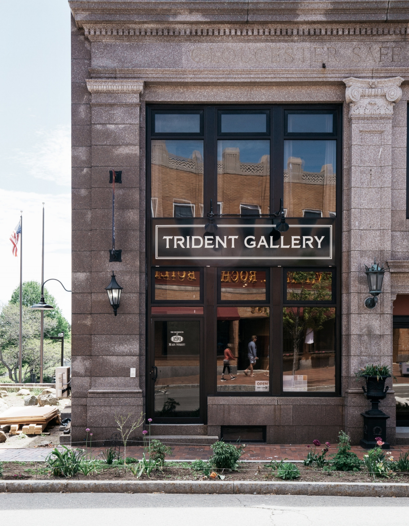 Trident Gallery is on Main Street in Gloucester. (Photograph by Dana Wendt)
