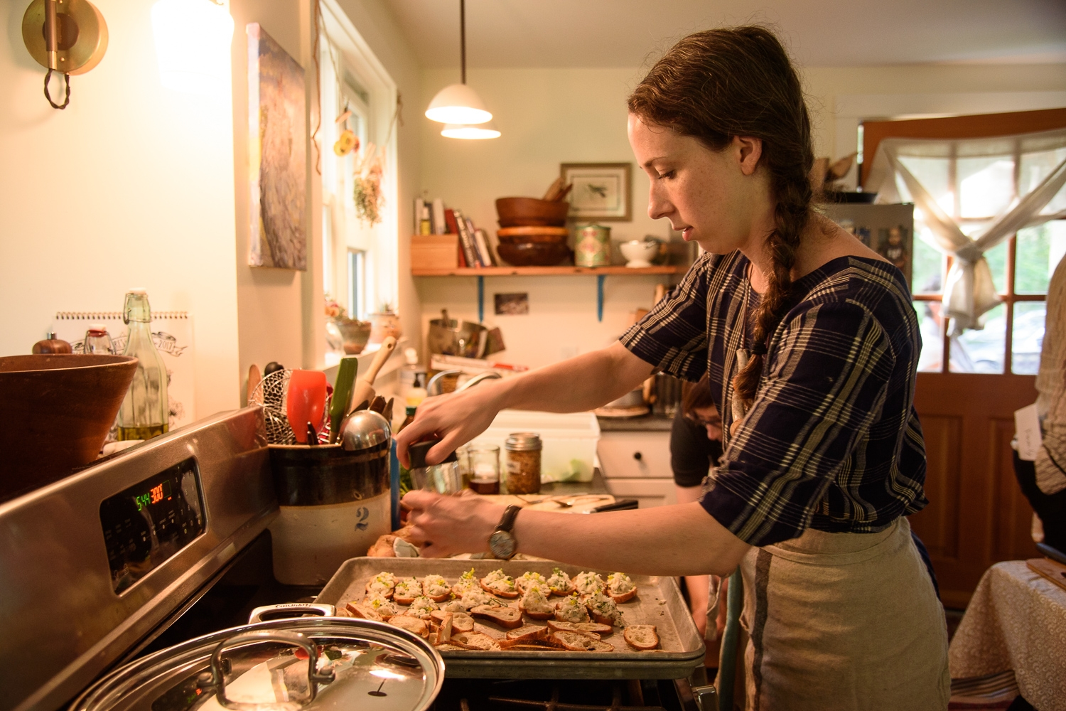 Chef Sheila Jarnes preps dinner. (Photograph by Shawn Henry)