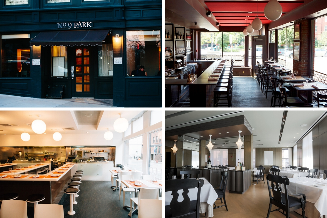 Lynch's restaurant empire includes (clockwise from top left): No. 9 Park, The Butcher Shop, Menton, and Sportello.