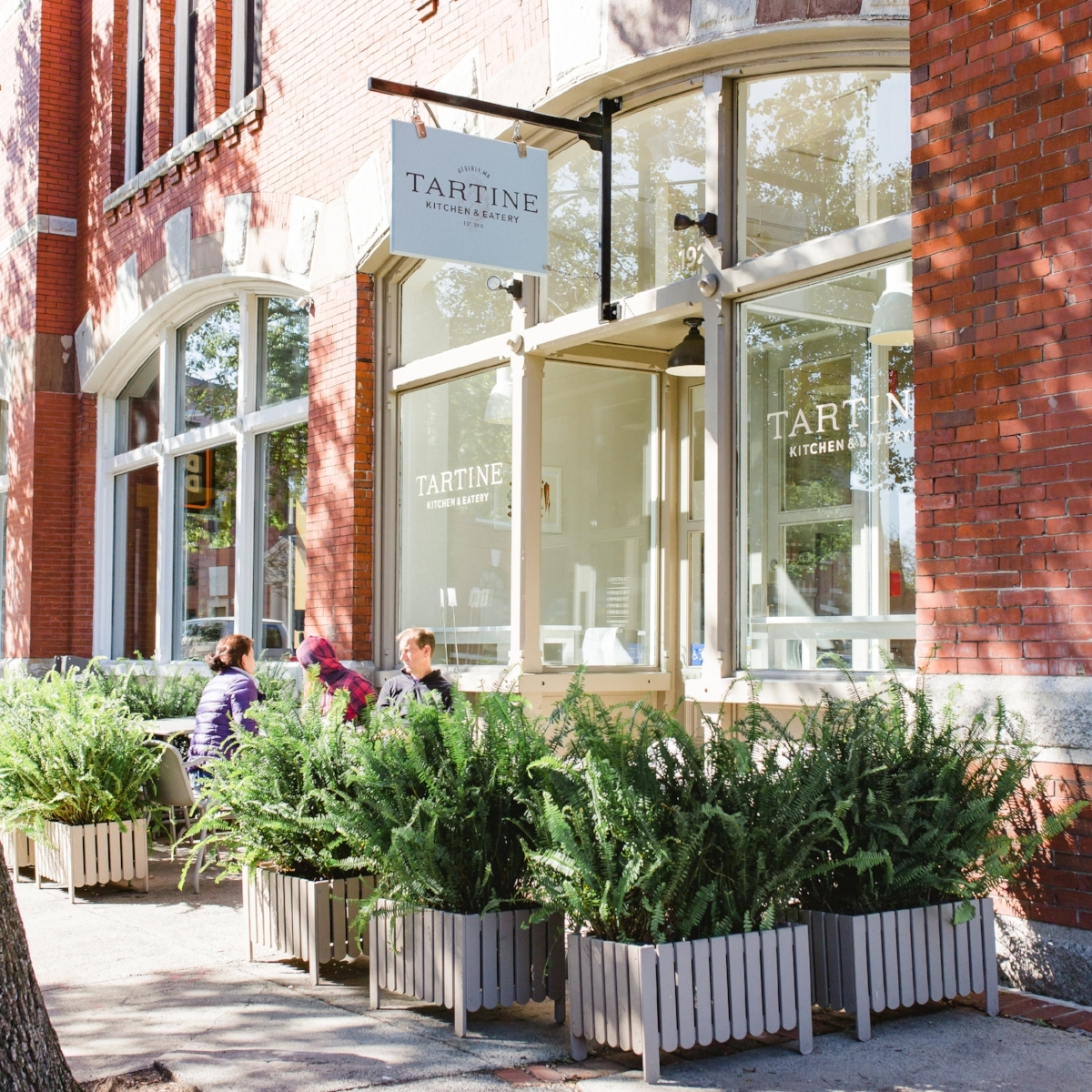 Tartine's sunny space faces Cabot Street in Beverly.(Photograph by Esther Mathieu)