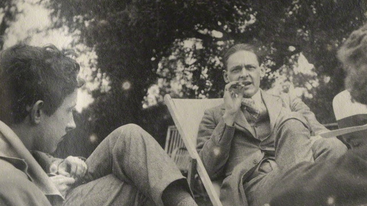 T.S. Eliot in 1923. (Photograph by Lady Ottoline Morrell)