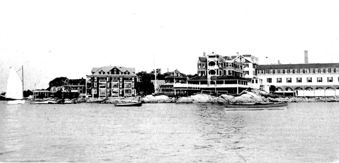 Before building the house on Eastern Point, the Eliot family summered at Rocky Neck's Hawthorne Inn & Cottages, above.
