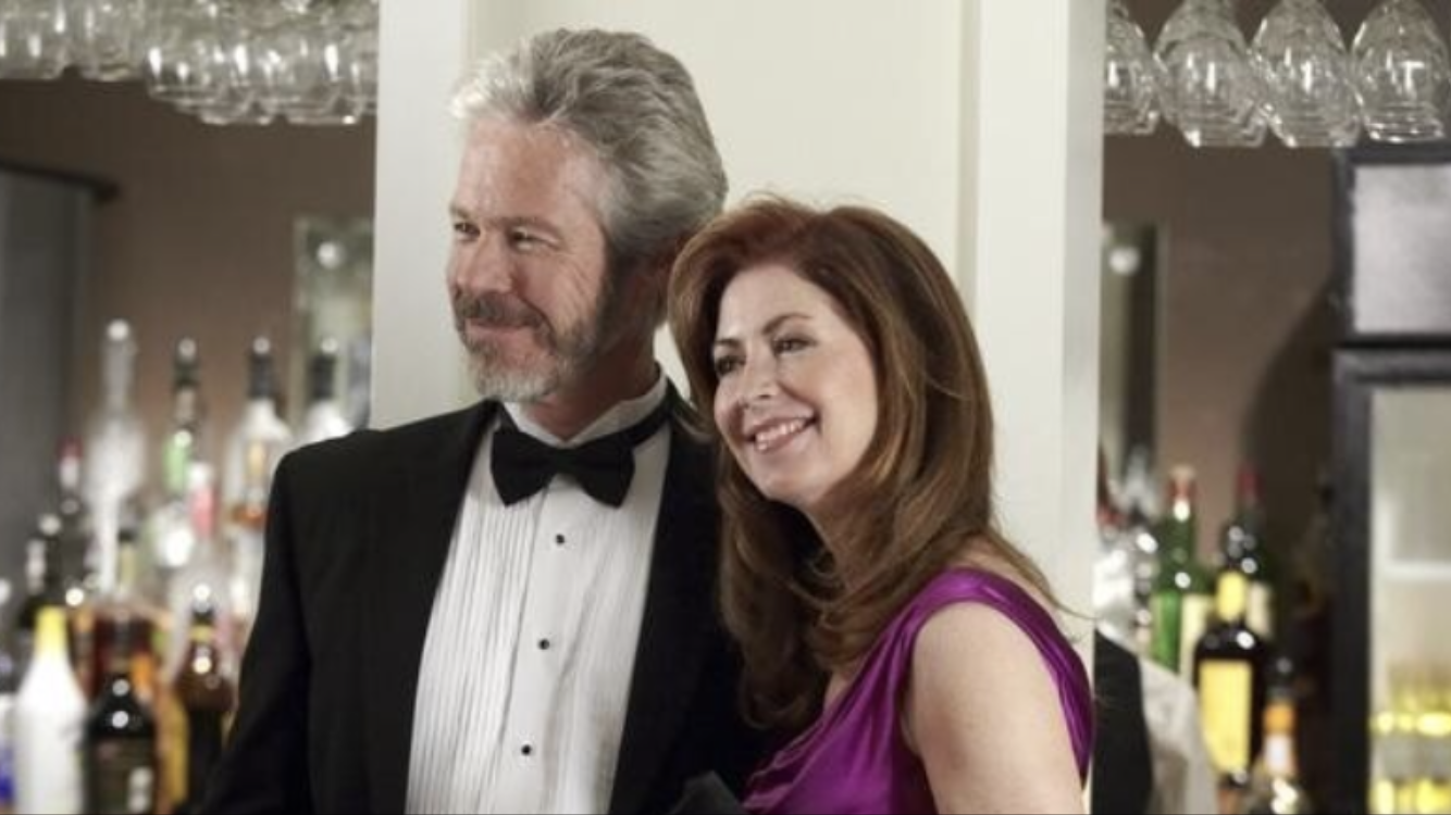 Walsh (left) with actress Dana Delany in a scene from the ABC television series   Body of Proof   .