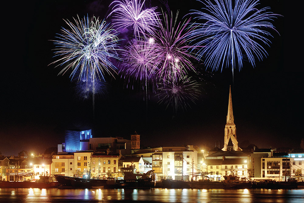 Fireworks over the town signal the opening of Wexford Festival Opera each year.